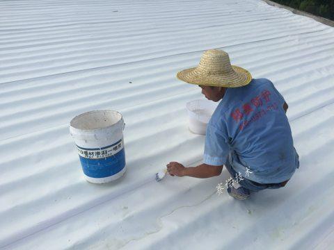 中山彩鋼瓦屋面防水防腐用賽諾PAWM卷材整體處理案例